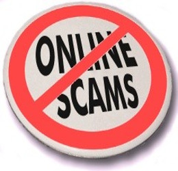 No-Online-scams-button